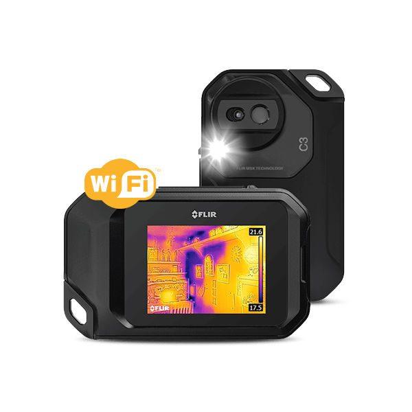 De Flir C3 wifi is een compacte maar complete warmtebeeldcamera van meetwinkel de leverancier van keurend en inspecterend nederland