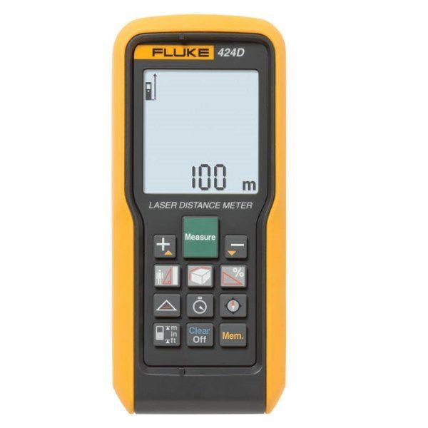 De Fluke 424D is een bijzonder nauwkeurige en complete laser afstandsmeter van Fluke van meetwinkel de leverancier van keurend en inspecterend nederland