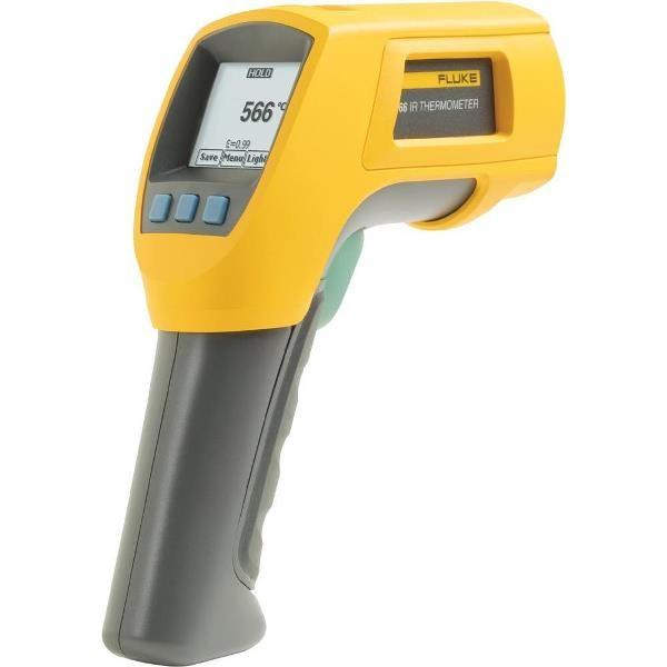 De Fluke 566 IR en contact thermometer van meetwinkel de leverancier van keurend en inspecterend nederland