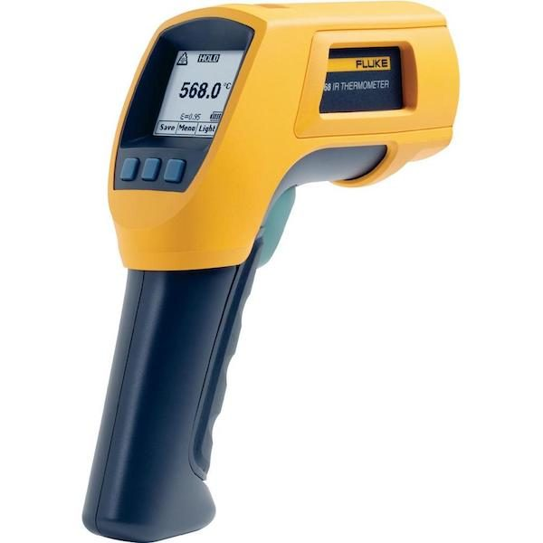 De Fluke 568 is een praktische IR en contact thermometer van meetwinkel de leverancier van keurend en inspecterend nederland