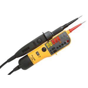 De Fluke T 110 is een ideale spanningstester en die koop je bij meetwinkel de leverancier van keurend en inspecterend nederland