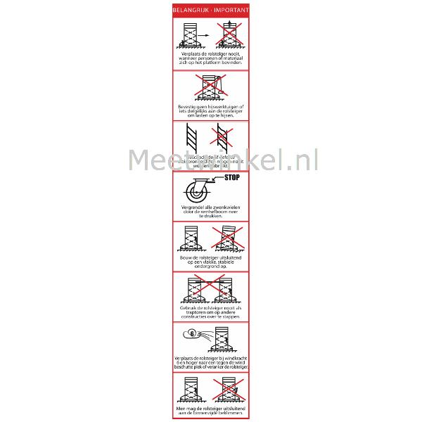 Gebruikspictogrammen Rolsteigers (set 25 stuks)