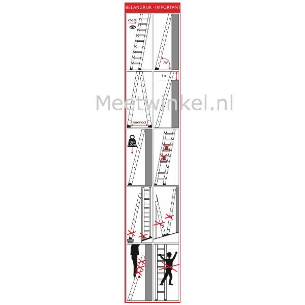 Gebruikspictogrammen ladders en trappen (set 25 stuks)