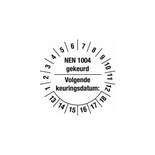 Keuringsstickers NEN 1004 Rolsteigers (set 200 stuks)