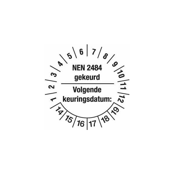 Keuringsstickers NEN 2484 voor Ladders en trappen (set 200 stuks)
