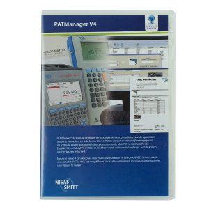 Nieaf-Smitt PAT-Manager software voor de Safetypat en Multipat xe tester van meetwinkel de leverancier van keurend en inspecterend Nederland