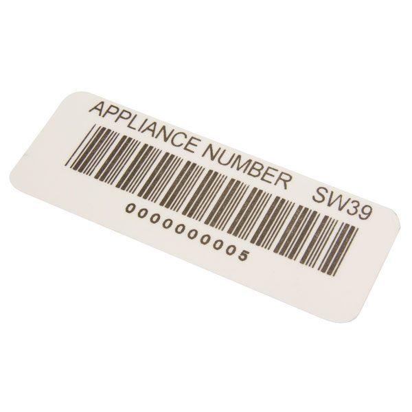 Voorbedrukte barcodelabels van Nieaf Smitt van meetwinkel de leverancier van keurend en inspecterend nederland