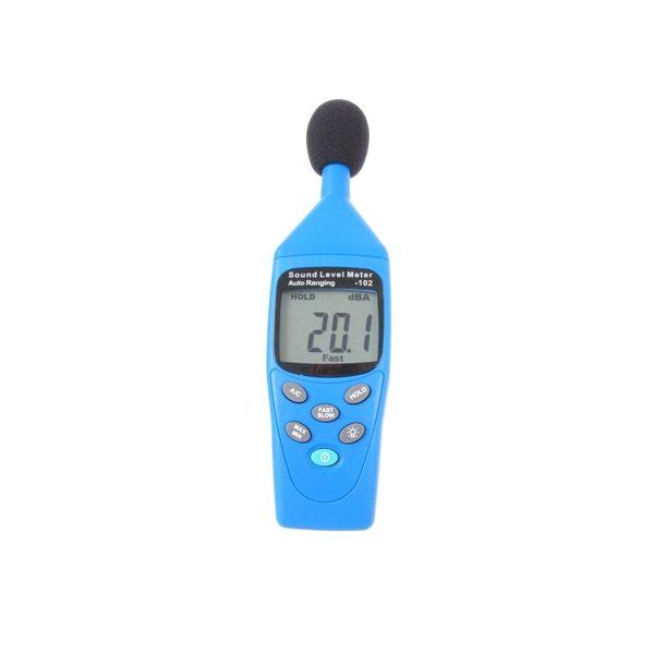 De Nieaf-Smitt NIS102 decibelmeter is een zeer praktische geluidsniveaumeter van meetwinkel de leverancier van keurend en inspecterend nederland