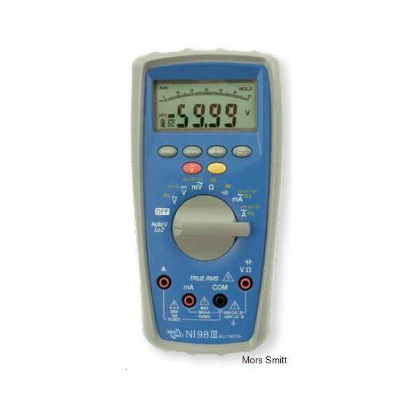 De Nieaf-Smitt NI98III is een unieke en complete digitale multimeter voor elektrotechnische professionals en die koop je bij meetwinkel de leverancier van keurend en inspecterend nederland