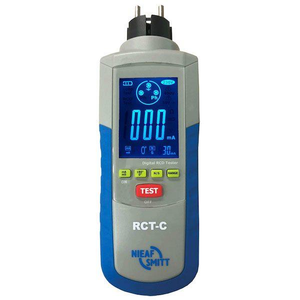 De Nieaf-Smitt RCT-S is de meest praktische aardlekschakelaartester volgens NEN 3140 van meetwinkel de leverancier van keurend en inspecterend nederland