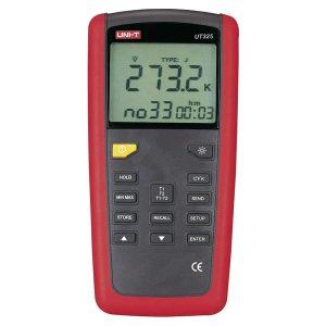 UNI-T UT 325 is een tweekanaal temperatuurmeter van meetwinkel de leverancier van keurend en inspecterend nederland