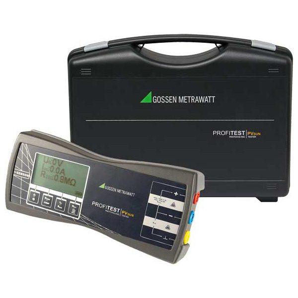 De Gossen Metrawatt profitest PV sun is een basis PV tester van meetwinkel de leverancier van keurend en inspecterend nederland