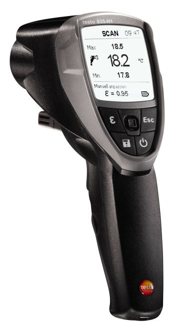 Testo 835-H1 - Infrarood thermometer met vochtmeting